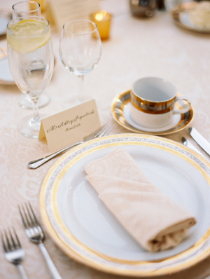 Gold and Ivory Place Setting