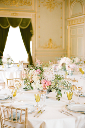 Gold and Pastel Reception