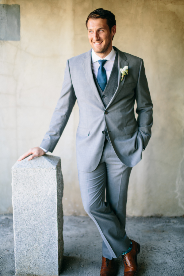 Gray Suit For Groom | Wedding Ideas