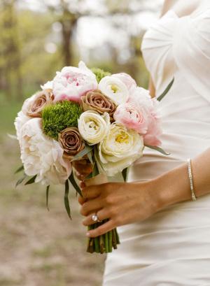 Green Brown Pink Bouquet