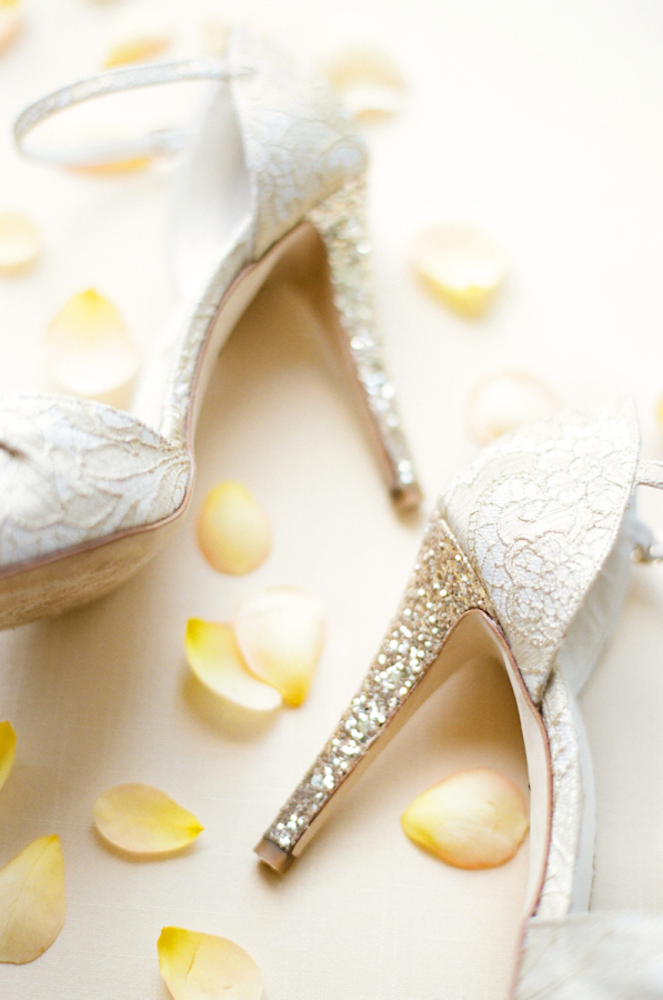 Lace and Glitter Bridal Shoes