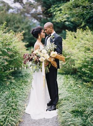 Lush Wild Autumn Wedding Bouquet