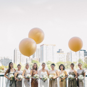 Metallic Bridesmaids Dresses