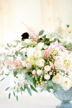 Pastel Garden Wedding Centerpiece by Bo Boutique Flowers