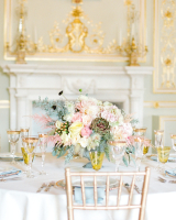 Pastel and Gold Wedding Reception