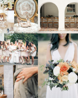 Peach Gray Gold Fall Wedding