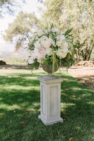 Pedestal Aisle Wedding Flowers