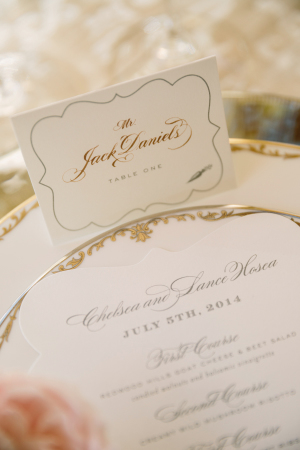 Place Cards in Gold