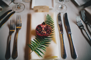 Place Setting with Pomegranates