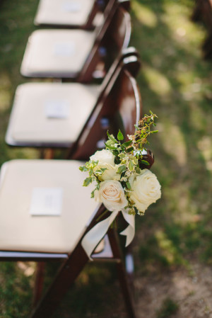 Posy on Ceremony Chair
