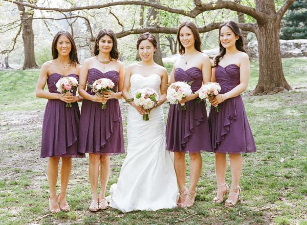 Purple Bridesmaids Dresses - Elizabeth Anne