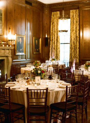 Red Brown Gold Reception