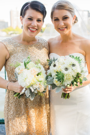 Sequin Gold Bridesmaids Dresses
