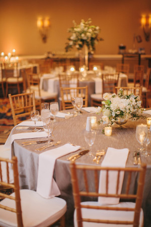 Silver Linens for Reception