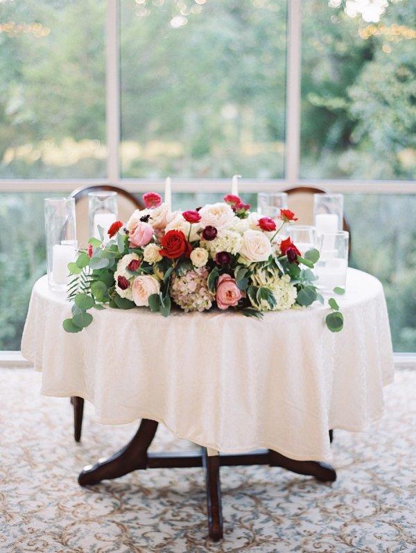 Sweetheart Table Centerpiece