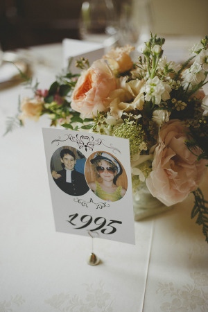 Table Number with Photos from a Year