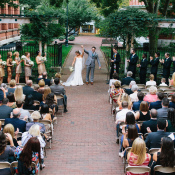 Wedding Ceremony in Museum Garden