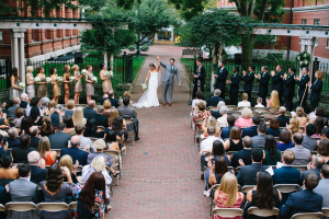 Wedding Ceremony in Museum Garden
