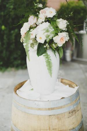Wedding Flowers in White Urn