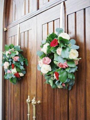 Wreaths on Chapel Door