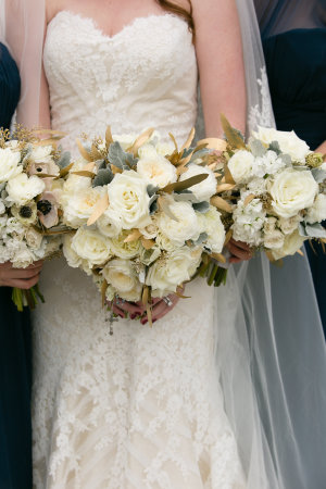 Amber and Ivory Bouquets