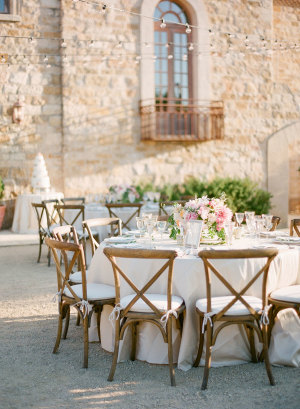 Blush and Brown Reception