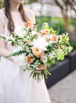 Bouquet in Peach and Green