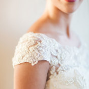 Bridal Gown with Cap Sleeves