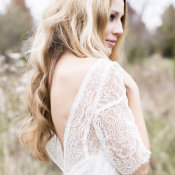 Bride in Sarah Seven Gown 7
