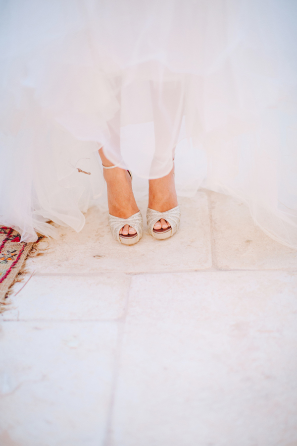 Bride in Silver Shoes