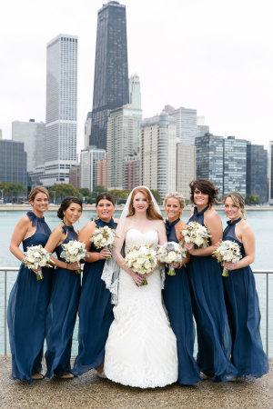Bridesmaids in Navy