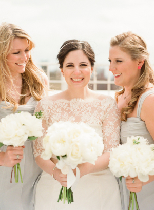 Bridesmaids in Pale Silver