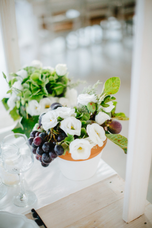 Centerpiece with Grapes