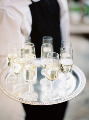 Champagne Flutes at Wedding