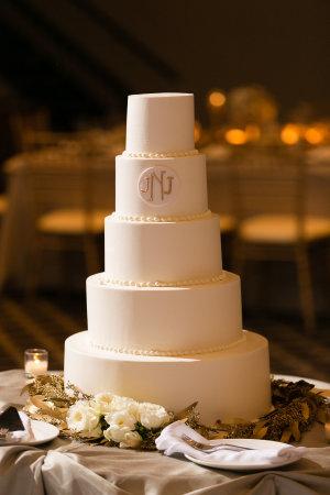 Classic Five Tier Wedding Cake