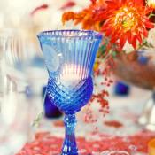 Cobalt Blue Candle Holder
