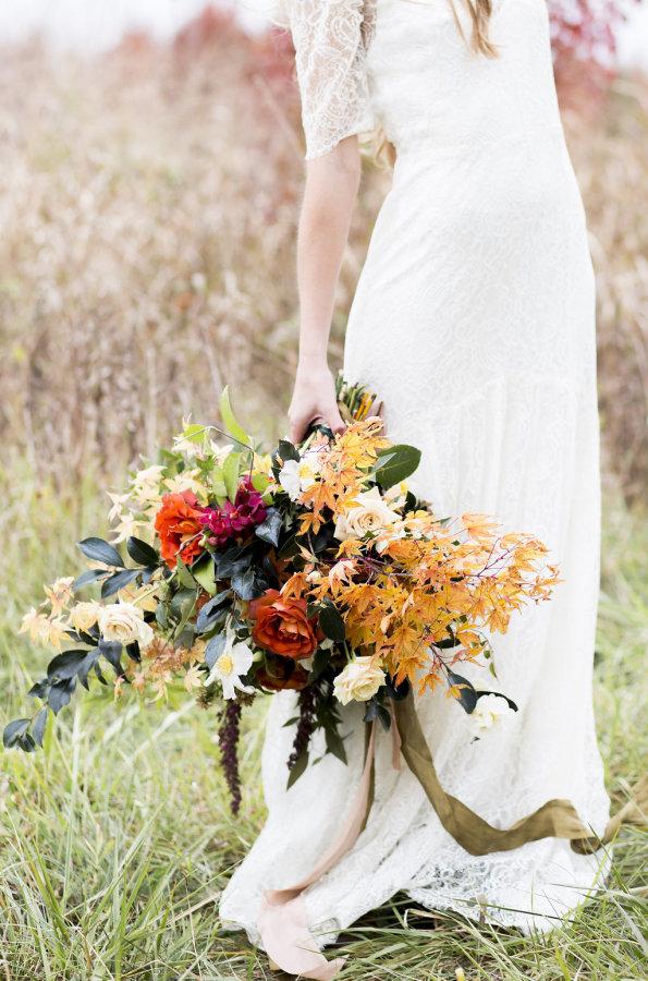 Elegant Dark Fall Bouquet
