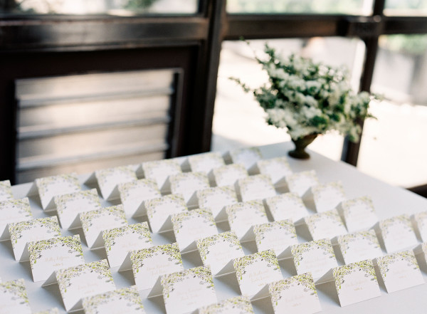 Escort Card Table at Wedding