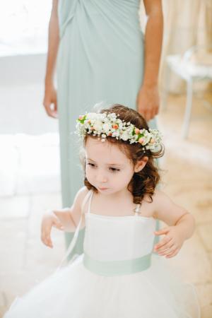 Flower Girl with Hair Wreath