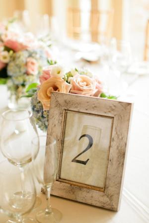 Framed Wood Table Number