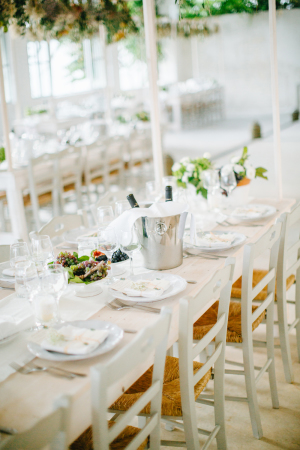 Fresh White and Green Wedding Table
