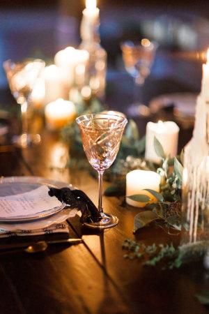 Goblet Holiday Wedding Decor