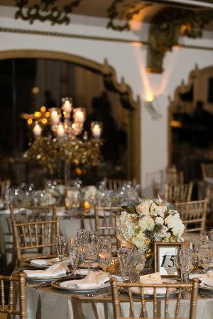 Gold Ivory Wedding Reception