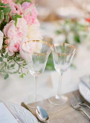 Gold Rimmed Wedding Crystal