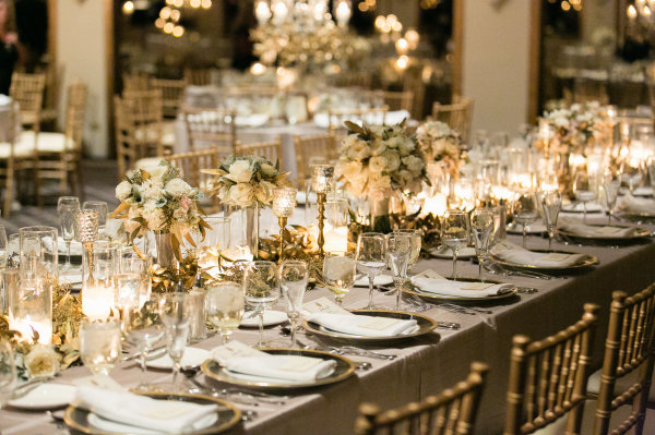 Gold And Gray Wedding Reception