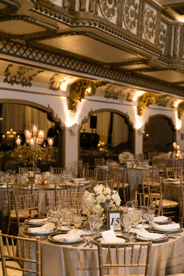 Gold And Ivory Wedding Reception Elizabeth Anne Designs The