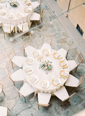 Gold and Ivory Wedding Reception1