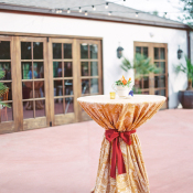 Gold and Red Wedding Linens