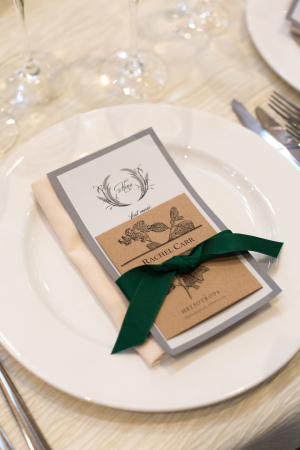 Green and Gray Place Setting