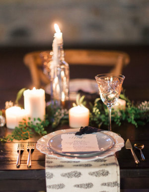 Green and Silver Holiday Tabletop